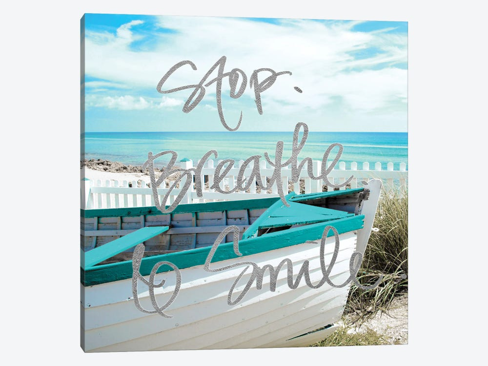 Stop, Breathe and Smile by Gail Peck 1-piece Canvas Artwork