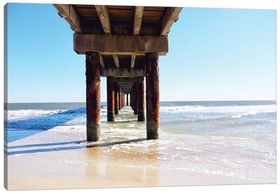 Sunlit Pier I Canvas Art Print