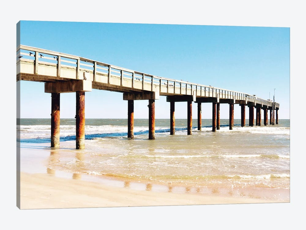 Sunlit Pier II by Gail Peck 1-piece Canvas Print
