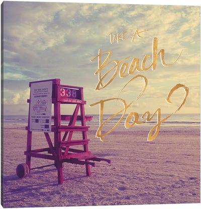 Take A Beach Day Canvas Art Print