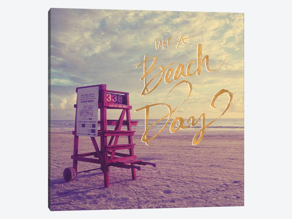 Take A Beach Day by Gail Peck 1-piece Canvas Art