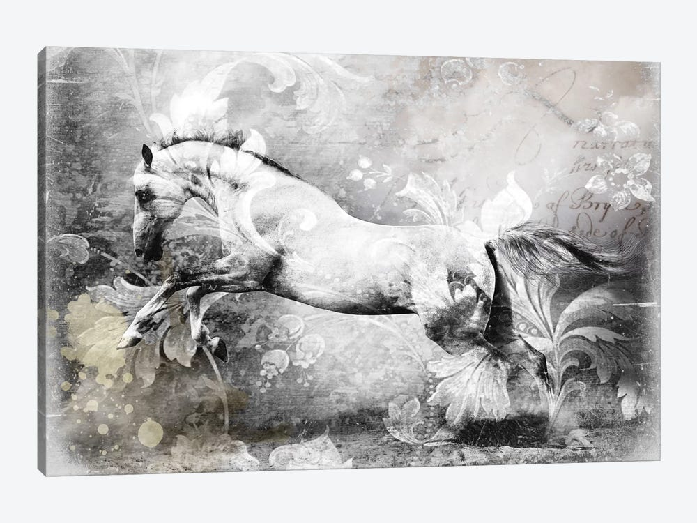White Horse by GraphINC 1-piece Canvas Artwork