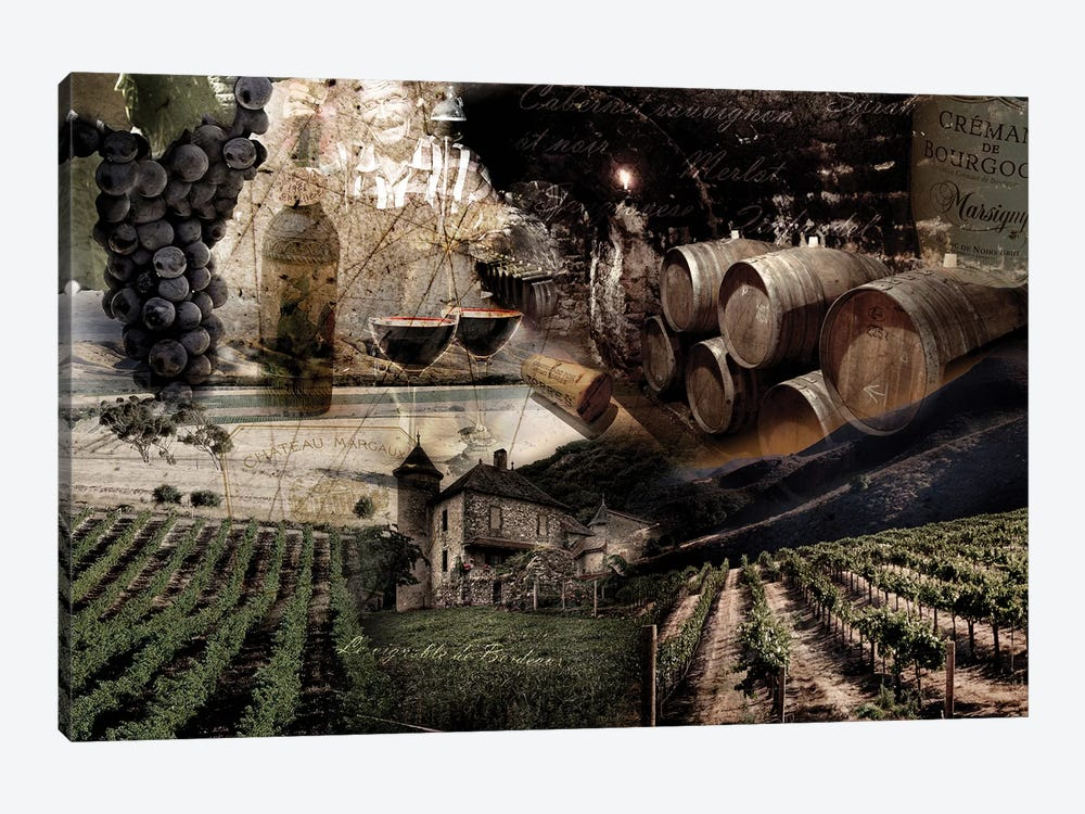 Wine by GraphINC 1-piece Canvas Art Print