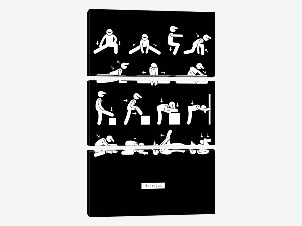 Workout by GraphINC 3-piece Canvas Artwork