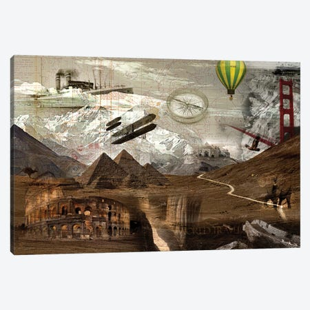 World Travel Canvas Print #GPH103} by GraphINC Canvas Art Print