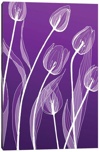 X-Ray Flowers I Canvas Print #GPH104