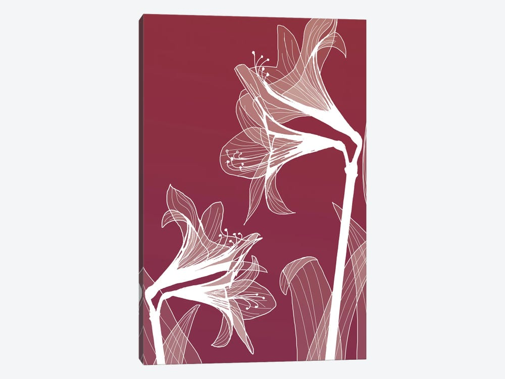 X-Ray Flowers II by GraphINC 1-piece Canvas Art Print