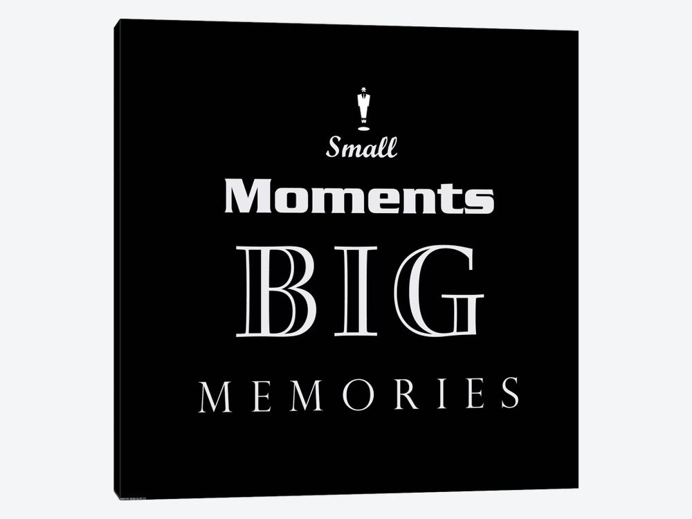 Small Moments, Big Memories by GraphINC 1-piece Canvas Print
