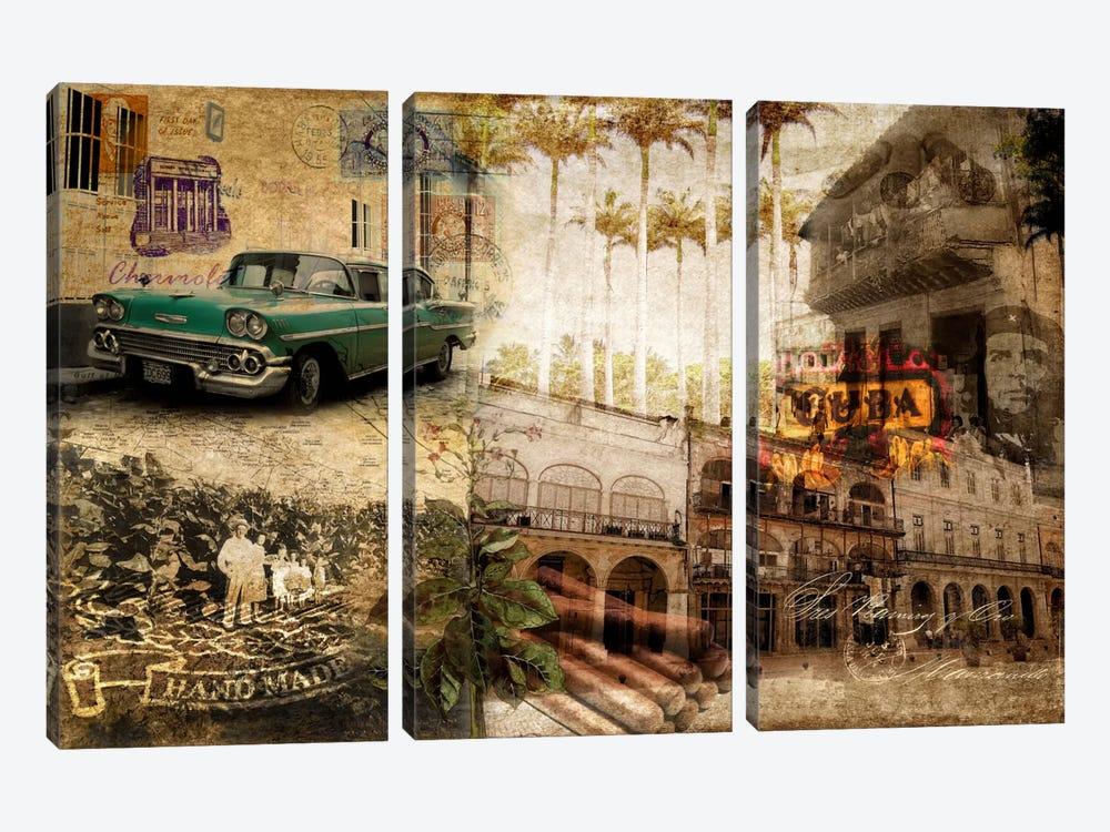 Cuba by GraphINC 3-piece Canvas Art