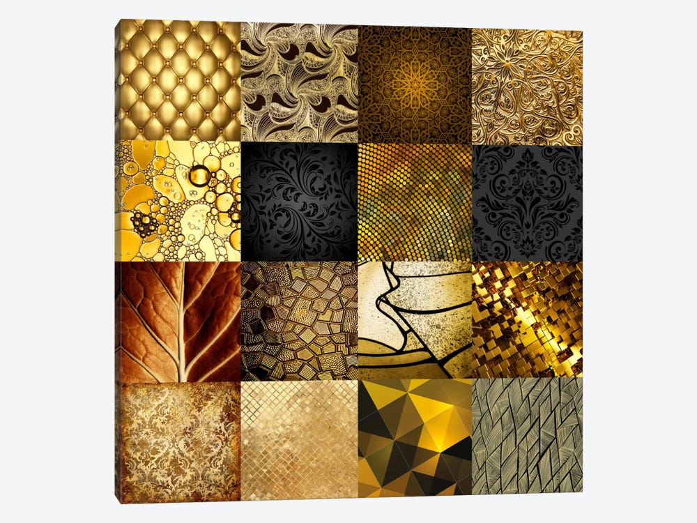 Gold by GraphINC 1-piece Canvas Art Print