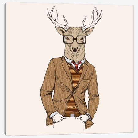 Deer-Man I Canvas Print #GPH27} by GraphINC Canvas Print