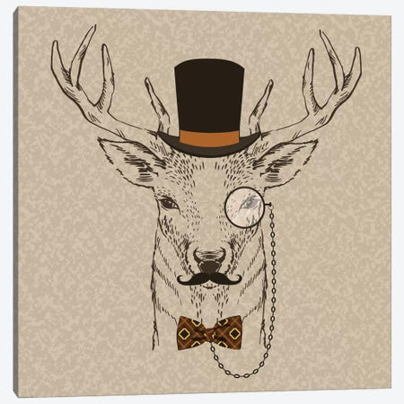 Deer-Man II Canvas Print #GPH28} by GraphINC Canvas Wall Art