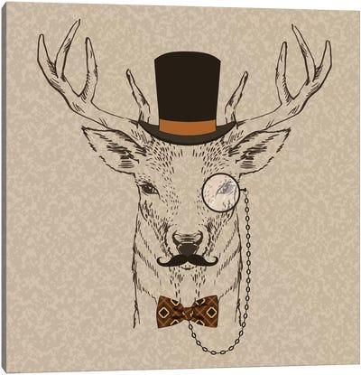 Deer-Man II Canvas Art Print