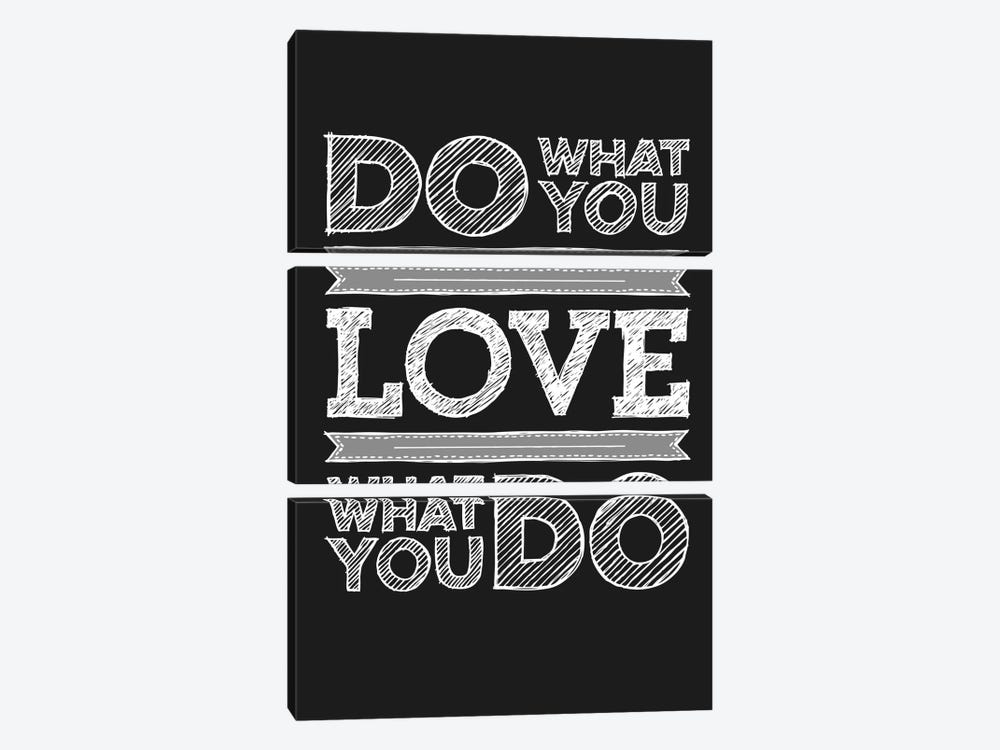 Do What You Love, Love What You Do by GraphINC 3-piece Canvas Print