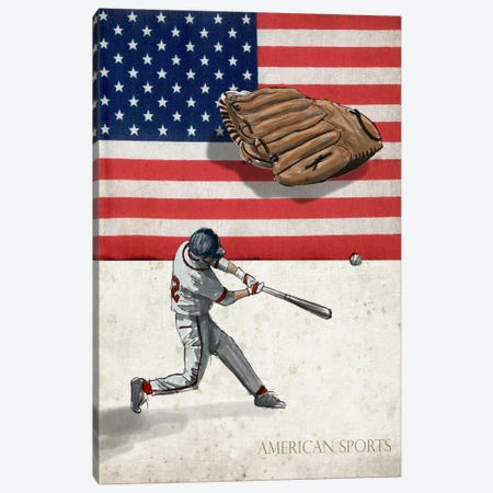 American Sports: Baseball I Canvas Print #GPH2} by GraphINC Canvas Artwork