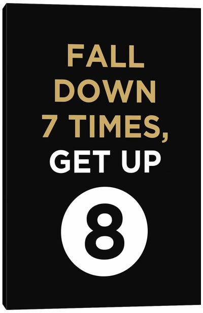 Fall Down, Get Up Canvas Art Print