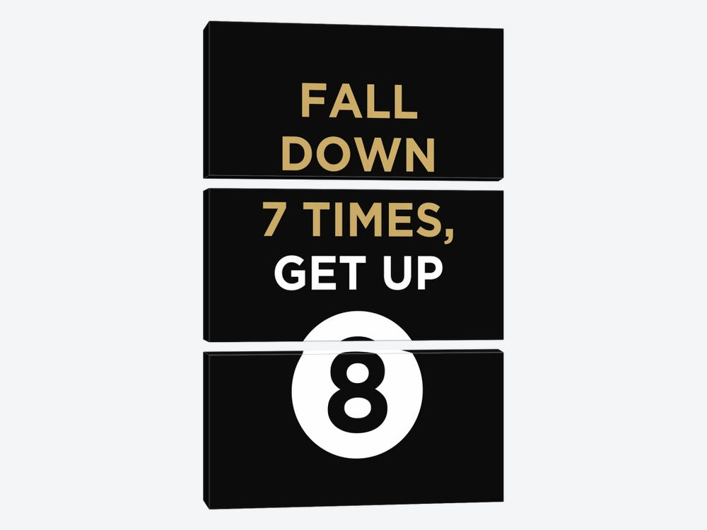 Fall Down, Get Up by GraphINC 3-piece Canvas Print
