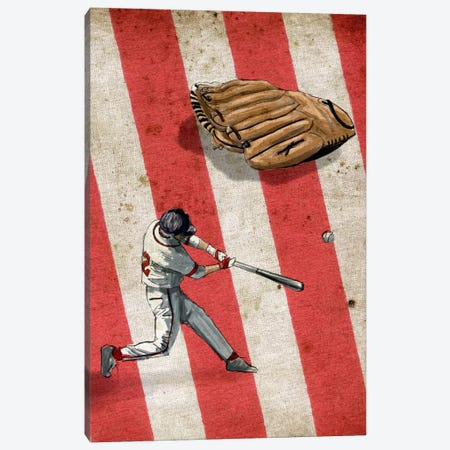 American Sports: Baseball II Canvas Print #GPH3} by GraphINC Canvas Art