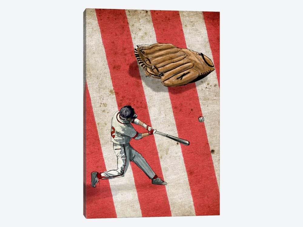 American Sports: Baseball II by GraphINC 1-piece Canvas Print