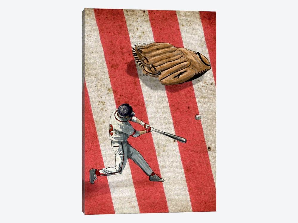 American Sports: Baseball II by GraphINC 1-piece Canvas Print