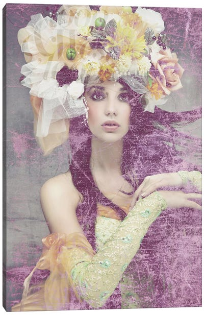 Flower Lady Canvas Art Print