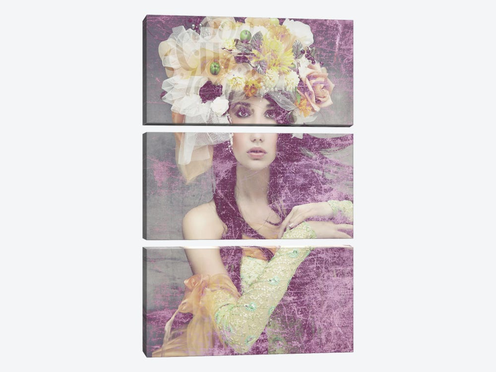 Flower Lady by GraphINC 3-piece Canvas Art Print