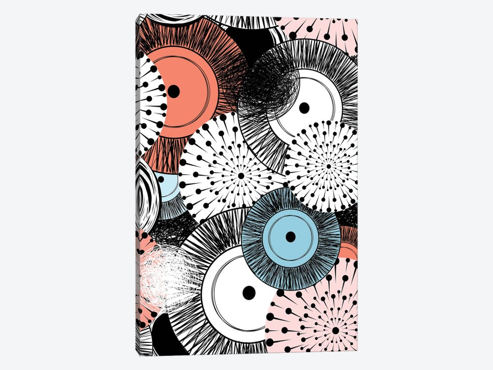 Flowers And Design by GraphINC 1-piece Canvas Wall Art