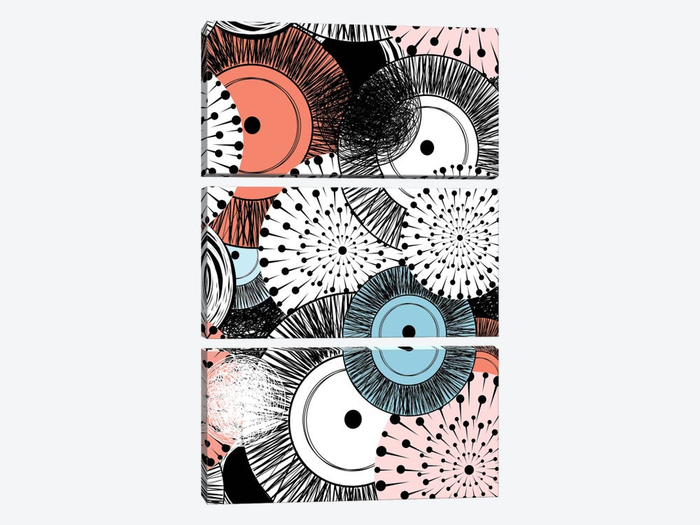 Flowers And Design by GraphINC 3-piece Canvas Wall Art
