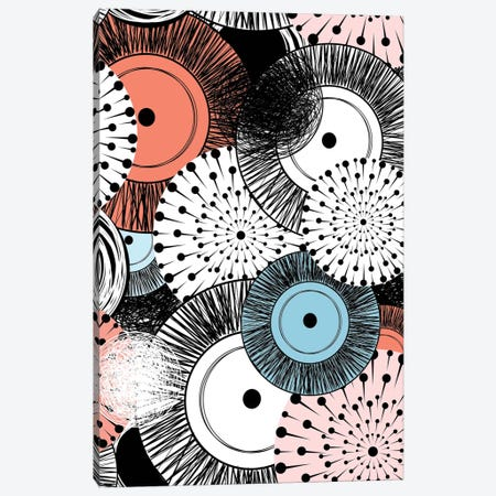 Flowers And Design 3-Piece Canvas #GPH42} by GraphINC Canvas Art