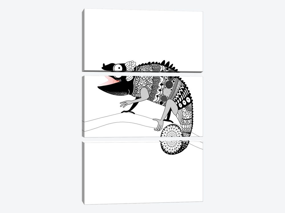 Gecko by GraphINC 3-piece Canvas Print