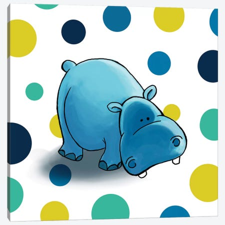 Hippo I Canvas Print #GPH45} by GraphINC Art Print