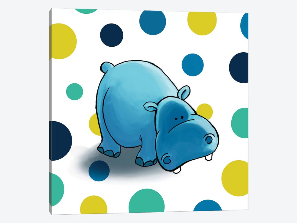 Hippo I by GraphINC 1-piece Canvas Art Print