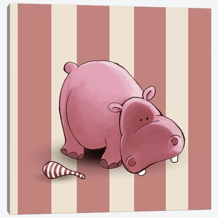 Hippo II Canvas Print #GPH46} by GraphINC Art Print