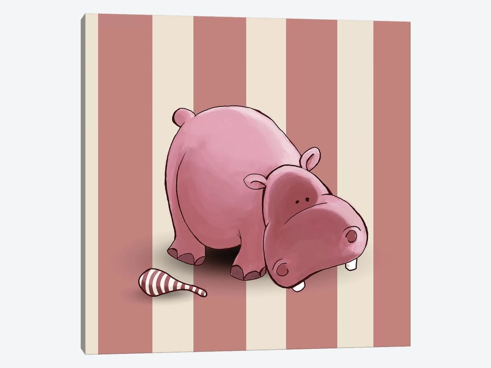 Hippo II by GraphINC 1-piece Canvas Artwork