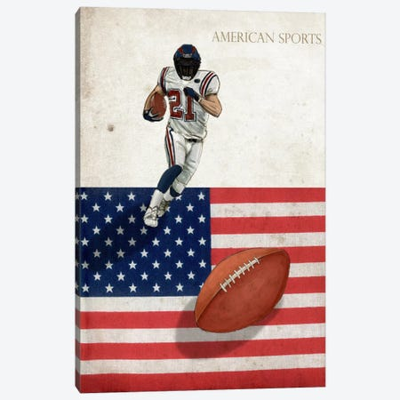 American Sports: Football I Canvas Print #GPH4} by GraphINC Art Print
