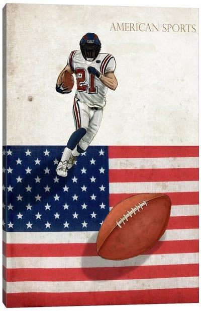 American Sports: Football I Canvas Art Print
