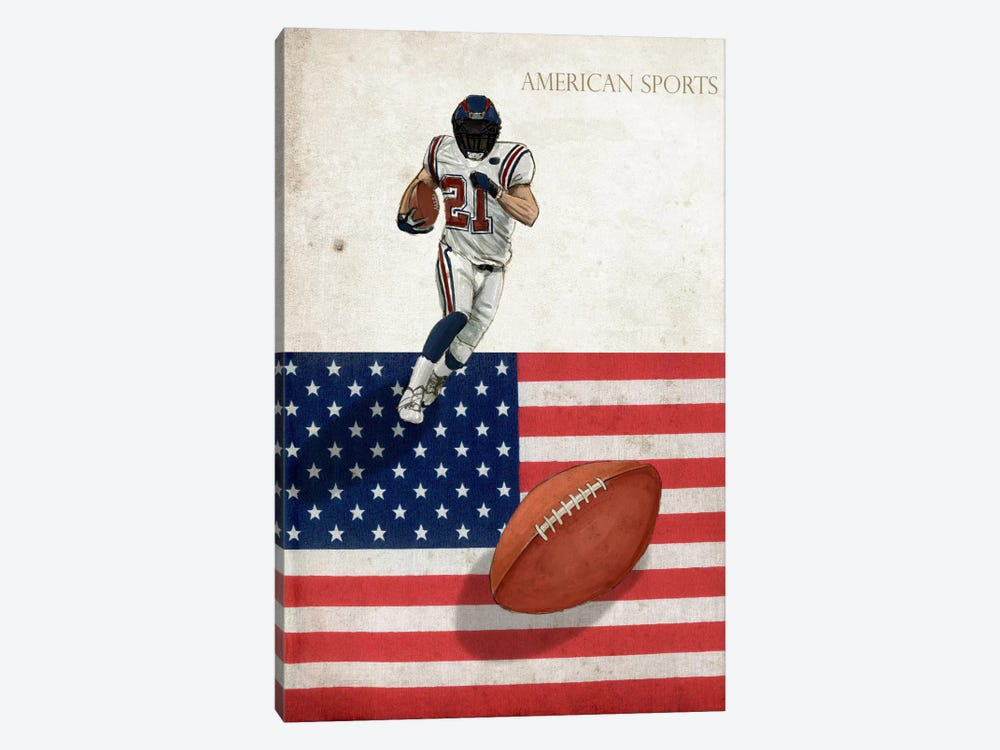 American Sports: Football I by GraphINC 1-piece Canvas Art