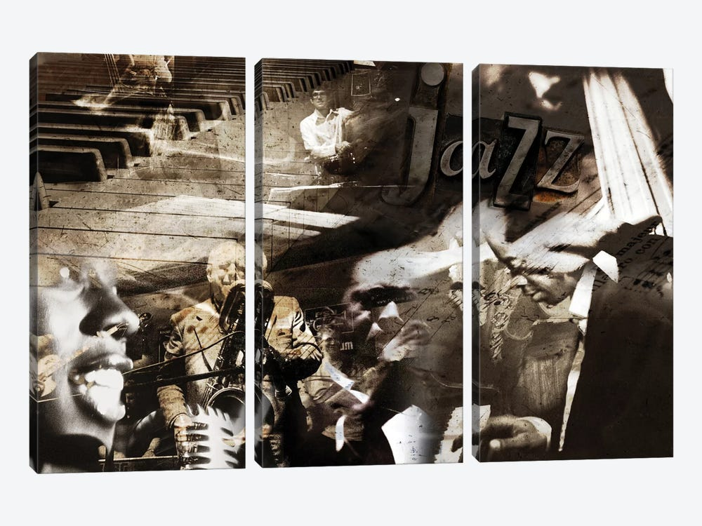 Jazz by GraphINC 3-piece Canvas Wall Art