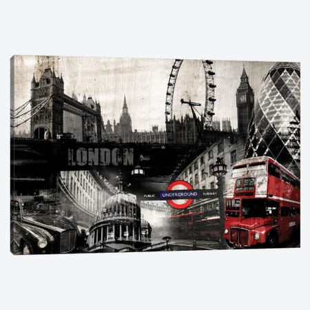London Canvas Print #GPH62} by GraphINC Canvas Wall Art