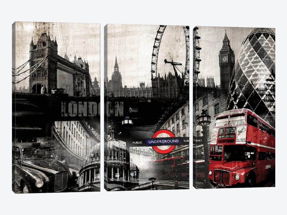 London by GraphINC 3-piece Canvas Wall Art