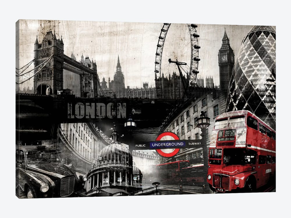 London by GraphINC 1-piece Canvas Wall Art