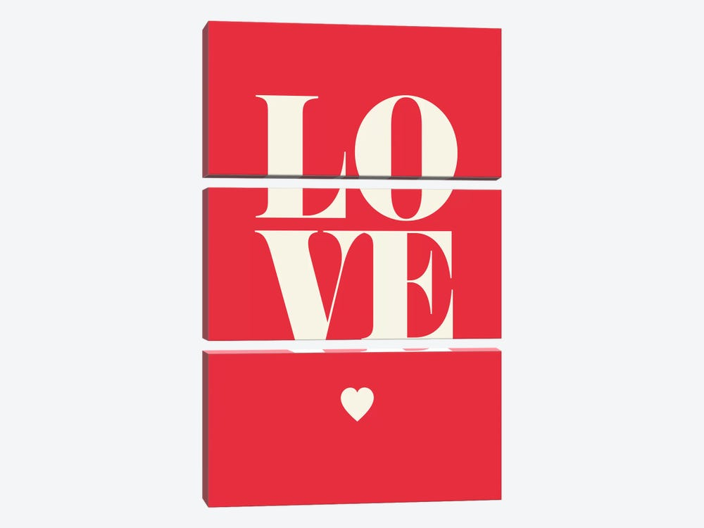 Love by GraphINC 3-piece Canvas Art Print