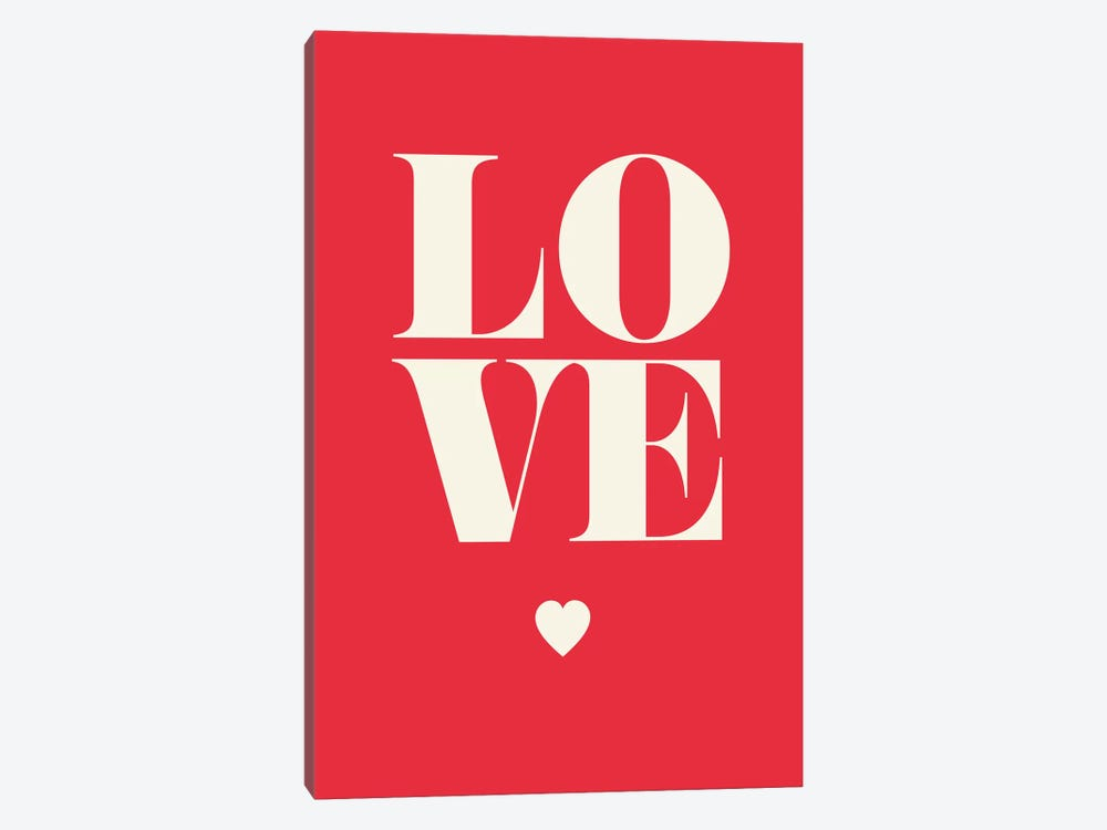 Love by GraphINC 1-piece Canvas Print