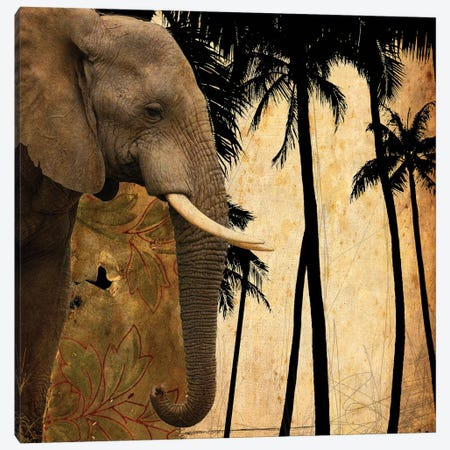 Mighty Elephant I Canvas Print #GPH65} by GraphINC Art Print