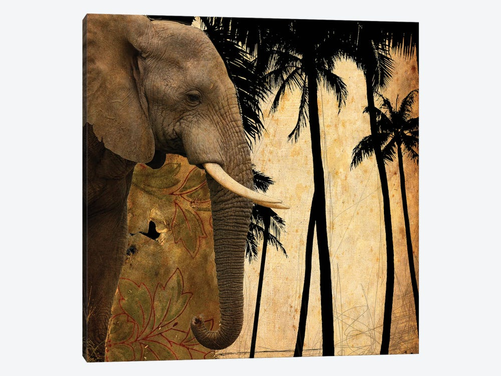 Mighty Elephant I by GraphINC 1-piece Canvas Print
