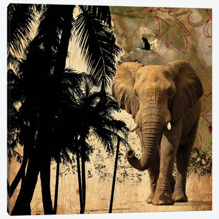 Mighty Elephant II Canvas Print #GPH66} by GraphINC Art Print