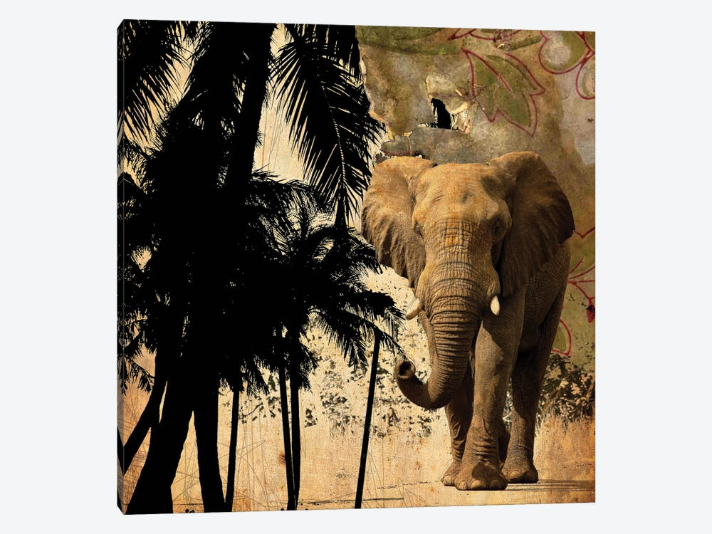 Mighty Elephant II 1-piece Canvas Art