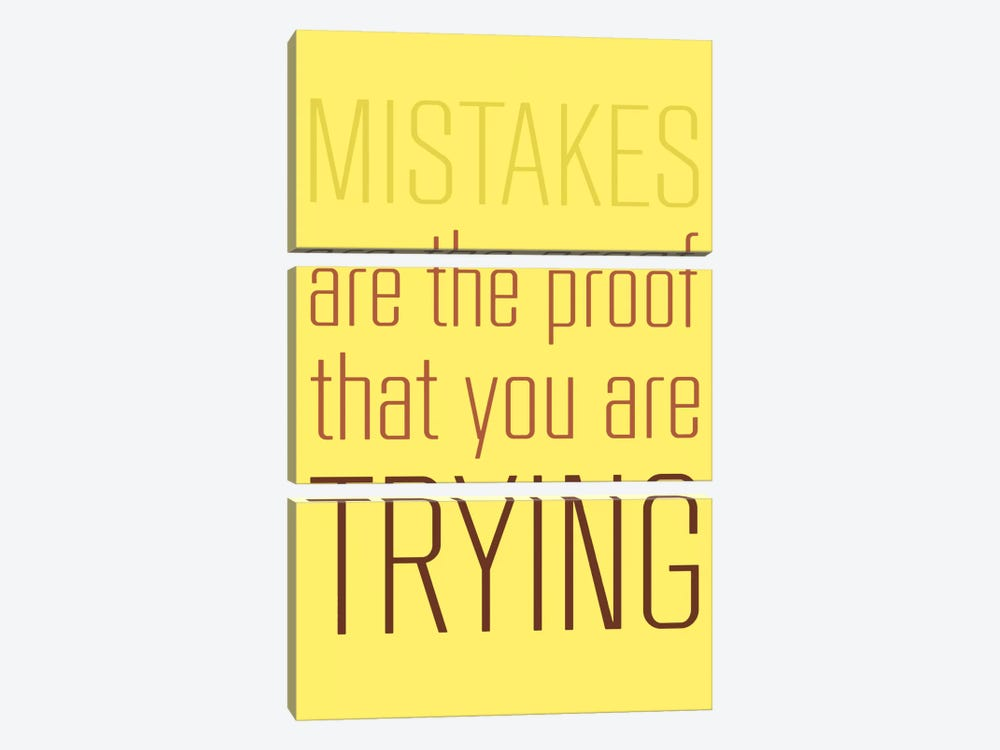 Mistakes Are The Proof by GraphINC 3-piece Canvas Print