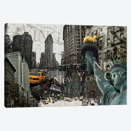 New York Canvas Print #GPH73} by GraphINC Canvas Art Print
