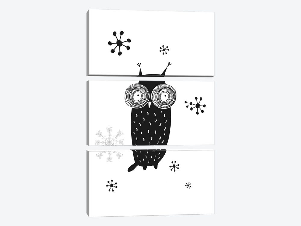 Owl I by GraphINC 3-piece Canvas Artwork